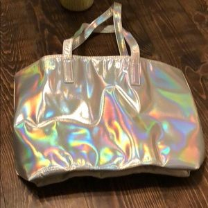 Never worn silver tote